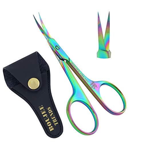 Cuticle Scissors, Eyebrows/Eyelashes Mustache Multi-Purpose Cuticle Scissors, Manicure Scissors for Men and Women