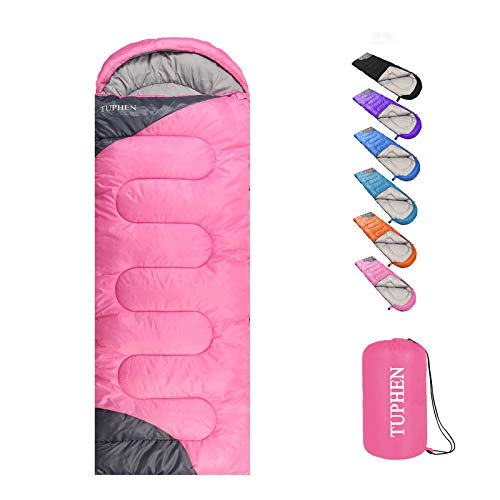 TUPHEN- Sleeping Bags for Adults Kids Boys Girls Backpacking Hiking