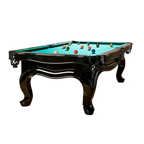 Pool Billardtisch Modell Piano 9 ft, Tuchfarbe:grün