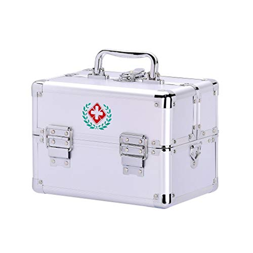 Medicijnkastje First Aid Kit, Medicine Storage Box, drie-laags grote capaciteit medicijnkastje, Household Goods-opslag, met handvat EHBO doos (Size : A)