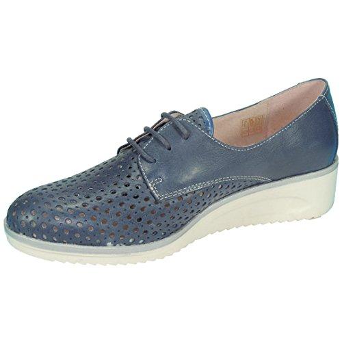 TEKILA 4255 Zapato Casual Confort con Cuña Goma Color Hueso 3,5 Cm para Mujer Iris Talla 40