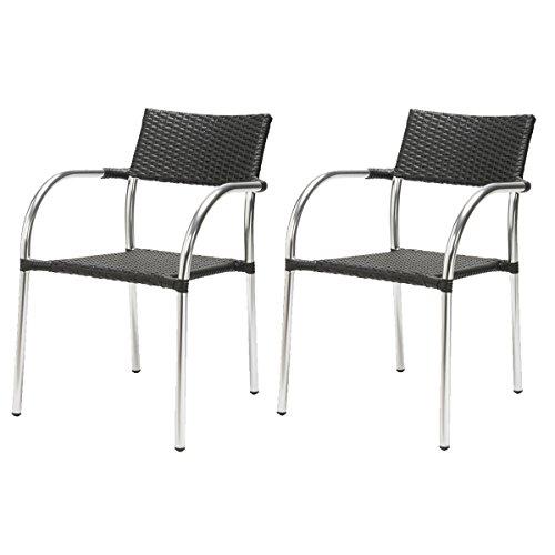 ROTIN DESIGN Lot de 2 fauteuils Remo en polyrotin