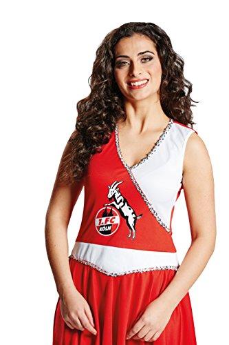 Generique - Cheerleader Kostüm Damen 1. FC Köln rot-weiß