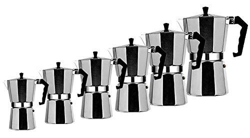 TOP MOKA Italian Coffee Pot Maker Filter Stove Top Mocha Espresso Coffee Pot all size (100ML 2CUP)