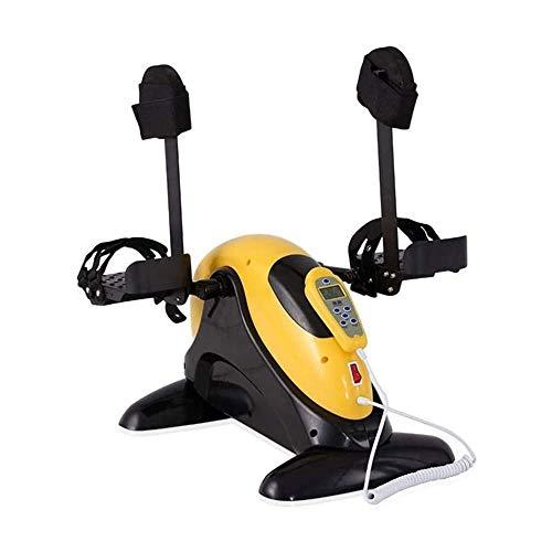 LMCLJJ Pedal eléctrico ejercitador de Brazo/Pierna, Mini Bicicleta de Ejercicios de Fisioterapia Equipo de Rehabilitación for Personas Mayores, Personas Mayores (Color : Yellow with Stand)