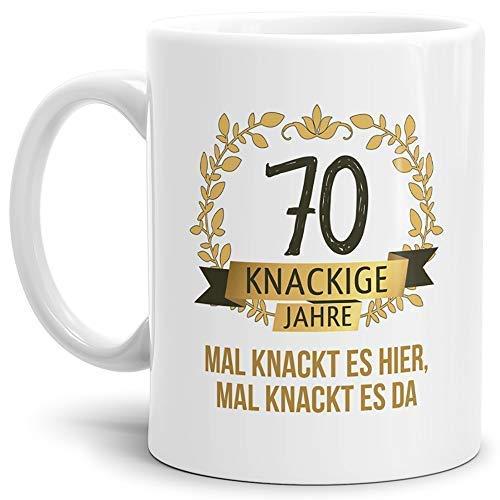 """Tassendruck Geburtstags-Tasse Knackige 70"""" Geburtstags-Geschenk Zum 70. Geburtstag/Geschenkidee/Scherzartikel/Lustig/Witzig/Spaß/Fun/Mug/Cup/Beste Qualität - 25 Jahre Erfahrung"""