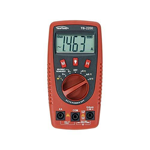 Testboy TB-2200 Digital Multimeter mit Spannungssensor und LED-Lampe