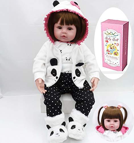 """ZIYIUI 18 """"/ 47 cm Weiche Vinyl Handgemachte Neugeborene Silikon Puppen Echt Aussehende Lebensechte Reborn Baby Puppe Kinder Playmate"""