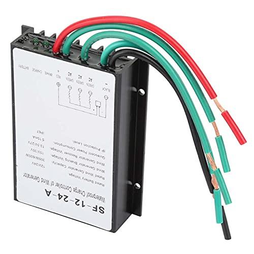 Controlador de turbina de viento - 12V/24V 300W/600W Regulador de controlador de carga de generador de turbina de viento a prueba de agua para todo tipo de energía eólica Sistema de suministro de ener