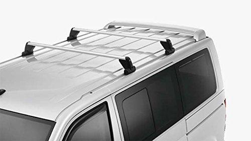 Original VW T5 T6 Grundträger (für Fahrzeuge mit Befestigungsschiene) Dachträger Transport Träger Tragstäbe 7H0071126A