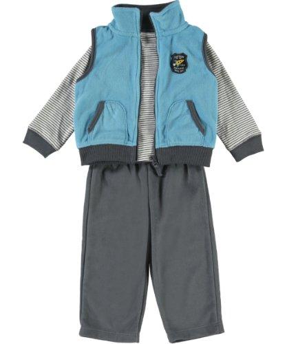 Carter's 3-delig vest body broek baby jongen outfit kleding capuchon boy 3 delen vos