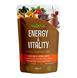 ✔ BOOST YOUR ENERGY - Feeling tired and sluggish all the time? Our natural Superfood Blend will boost your energy for hours - without caffeine crashes! Natural source of caffeine. Kick start your day and replace your morning coffee with Energy Boosti...