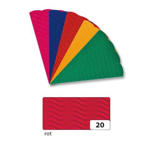Schultüten-Rohling 3D-Welle, 68cm, rot [Spielzeug]