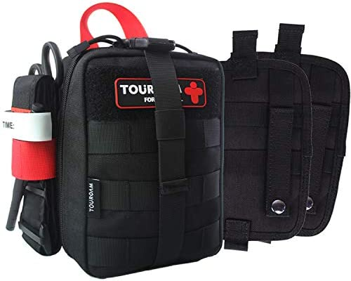 TOUROAM IFAK Med Trauma Kit Molle Tactical Emergency First Aid Kit Survival Military Rip Away product image