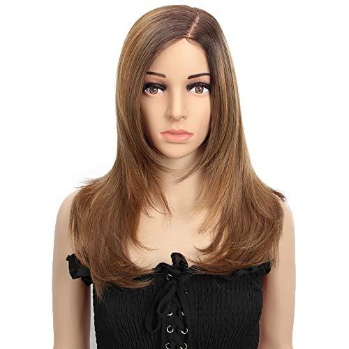 Style Icon Perruque en dentelle synthétique soyeuse et raide de 53,3 cm pour femme - Perruque de luxe sans colle