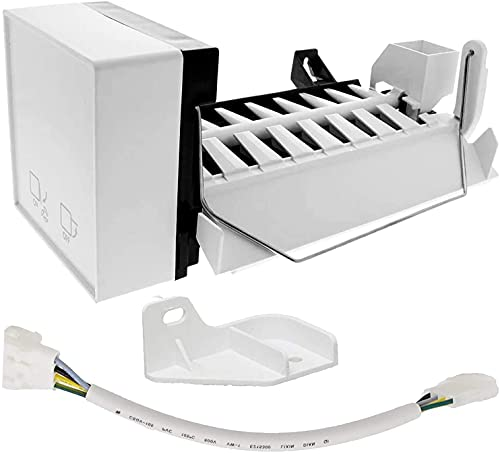 PartsBroz 2198597 Ice Maker (8 Cube) with Harness - Compatible with Whirlpool Refrigerators - Replaces 1016069, 2198678, 626663, AH869316, EA869316, PS869316, W10122502, W10190960