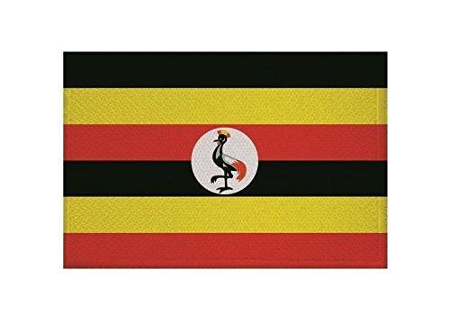 U24 Aufnäher Uganda Fahne Flagge Aufbügler Patch 9 x 6 cm