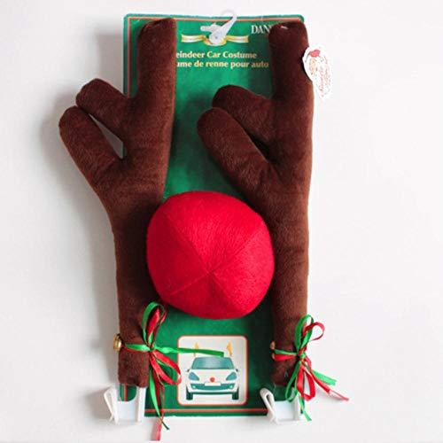 KIU Kit opknoping in de auto/huis/slaapkamer voor Kerstmis Festival geschenken auto ornamenten Antlers & neus auto Decor