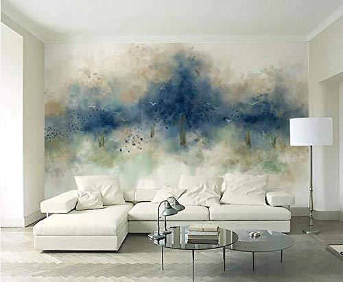 Pintado a mano abstracto bosque volando aves grandes mural personalizado 3D foto papel pintado sala de estar sofá TV fondo decoración mural fondo*300cmx210cm