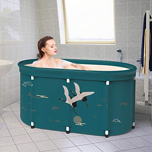 zitong Portable Foldable Bathtub, Foldable Soaking Bathing Tub for Adults, 80-100cm Separate Family Bathroom SPA Tub, Soaking Standing Bathtub, Ideal for Hot Bath Ice Bath