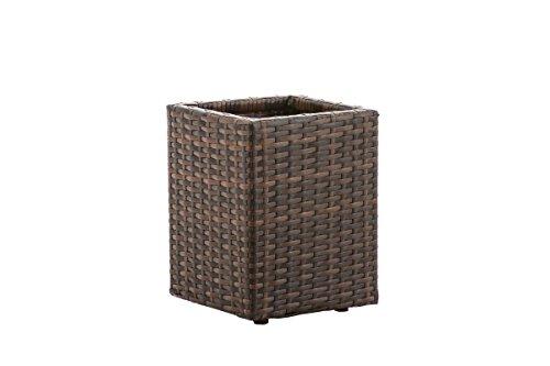 CLP Portavaso da Esterno Laura M in Polyrattan I Vaso per Fiori E Piante da Giardino O Balcone Resistente Ai Raggi UV, Colore:Antico/Marrone