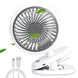 (2021 Amélioré)Ventilateur USB Rechargeable Winmor, 5000mAh;3 Vitesses;Rotation à 360 ° avec Clip, Mini...