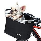 COFIT自転車バスケット、折りたたみカゴ 防水 取り付け簡単 脱着式多目的自転車用ハンドルカゴ ペット、ショッピング、通勤、キャンプ、アウトドア向け 基本型 ブラック