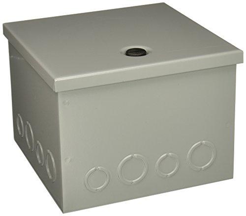"Hoffman AHE8X8X6 Pull Box, Hinged Cover, Steel, 8"" x 8"" x 6"", Gray"