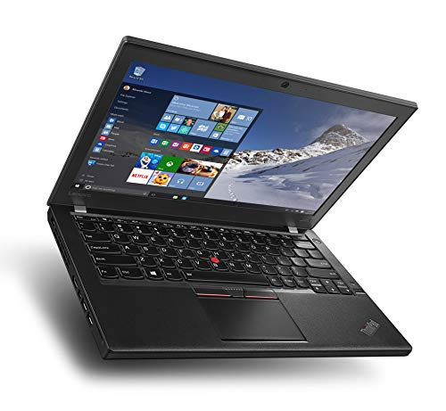 Lenovo ThinkPad X260 12.5 Inch HD Intel Core i5 128GB SSD Hard Drive 8GB Memory Windows 10 Pro MAR Webcam Business Notebook Laptop (Certified and Refurbished)