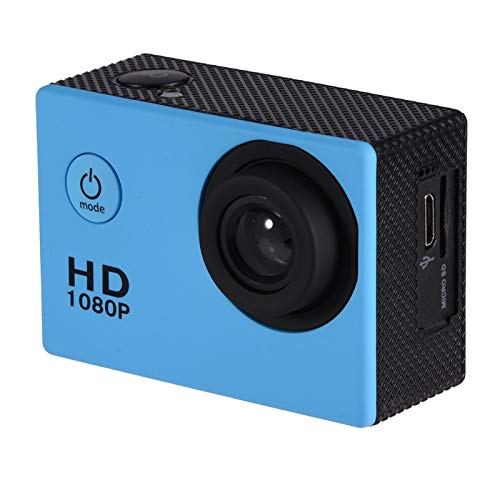 Gaeirt Fotocamera Sportiva, videocamera da Viaggio con videocamera di Azione di Grande capacità di archiviazione DV per registrare Ogni Singolo Momento Meraviglioso della Tua Vita.(Blu)