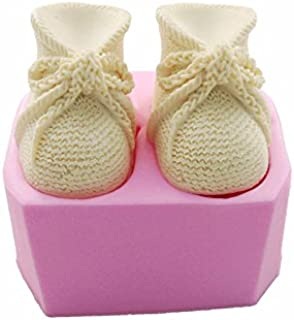 3D Knitted Baby Shoes Silicone Fondant Molds Cake Tool Cake Decorating DIY Mould Candle Soap Clay Mold