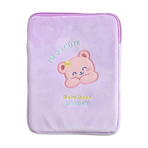 Tablet Case Lovely Bear Pattern Clamshell Case Bag Durable Portable Cartoon Tablet Protective Case Smart Protective Cover Compatible for iPad 10.2 iPad 9.7