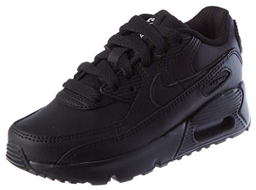 Nike Air Max 90 LTR (PS), Scarpe da Corsa Unisex-Bambini, Black/Black-Black-White, 35 EU