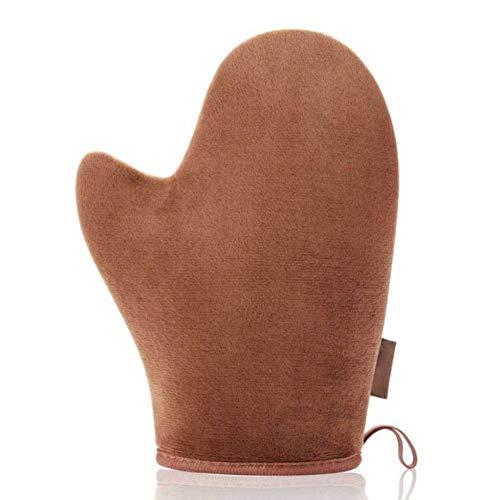 Wishwin Self Tanning Mitt Applikator - Gefälschter Tan Mitt mit Rutschfestem Elastischem Handgelenk und Daumenhandschuh