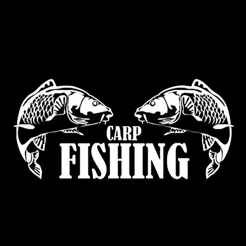 wjyoz 14.3cm X6.5cm Pegatina Personalizada Cuerpo de Caza de Pesca de Carpa (Color : White)