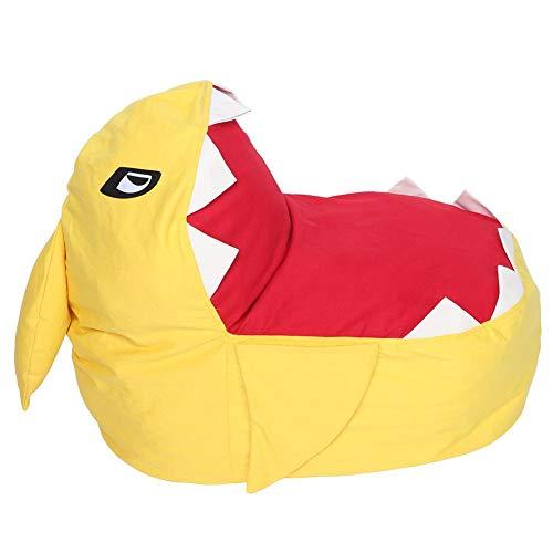Zerodis Extra Große Sitzsack Hai Stofftier Lagerung Sitzsack Stühle Weichem Plüschtier Organizer Flauschigen Liege Sofa für Kinder Erwachsene Sitzen und Schlafen (Gelb)