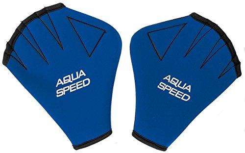 Aqua Speed® Guantes DE Agua | Aqua Fitness | Entrenamiento de natación | Palmeados | Neopreno | Resistente al Cloro | S-XL, Tamaño:L