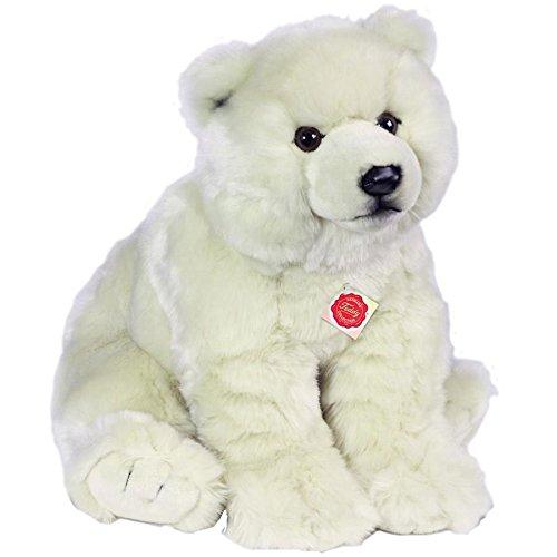 Hermann Teddy Collection 915300 - Plüsch-Eisbär sitzend, 50 cm