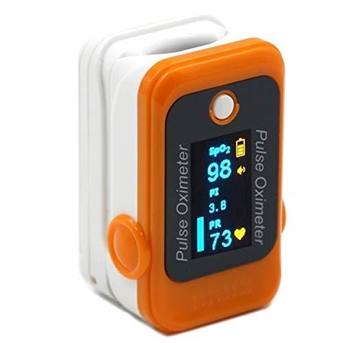 DR VAKU Swadesi Louis Series Pulse Oximeter Finger Blood Oxygen SpO2 Monitor A CE Approved (Orange)