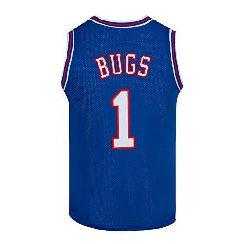 CNALLAR Camiseta de baloncesto para hombre, diseño de Bugs 1, color blanco y negro, Azul / Patchwork, X-Large