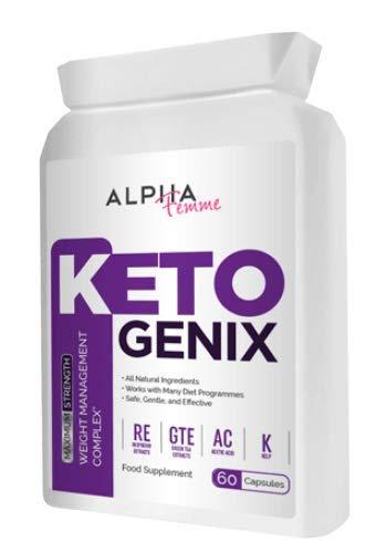Alpha Femme Keto GENIX 60 CAPS Weight Loss Formula - 1 Month Supply
