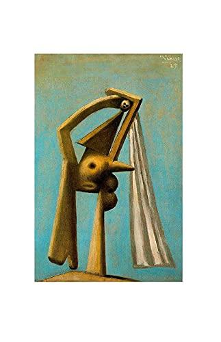 Bañista de Pablo Picasso Cuadro Decoración Pared Cuadros Famoso Para Dormitorios Modernos Lienzo Cuadros Decorativos Decoracion de Salones (50x78cm20x31inch, sin marco)