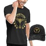 Photo de BAODANLE Homme T- T-Shirt Polos et Chemises Tiesto T Shirt Men's Shirt and Baseball Cap Classic Personality Set Funny Tops Tees