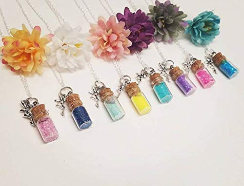 Fairy dust necklace bottle