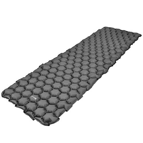 X-Terrain Best Sleeping Pad for Backpacking, Hiking, Camping, Travel, w/Sleeping Pad Cover, New Two Way Valve System, and Plush Air Cell Technology