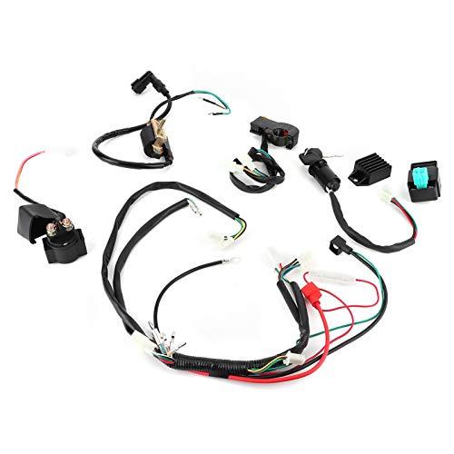 Tomanbery Bobina de Manillar Interruptor de Llave de Encendido Cable de Encendido Unidad CDI para 50cc 110cc 125cc Pit Quad Dirt Bike ATV