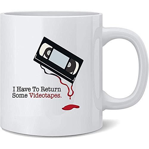 Devo restituire alcune videocassette Tazza da caffè Tazze da caffè Tazza da tè Regalo della novità divertente