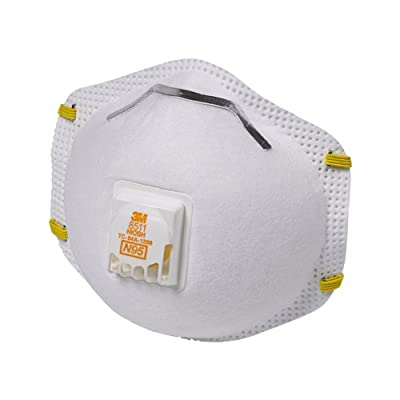 3M 8511 Respirator, N95, Cool Flow Valve (10-Pack) from 3M