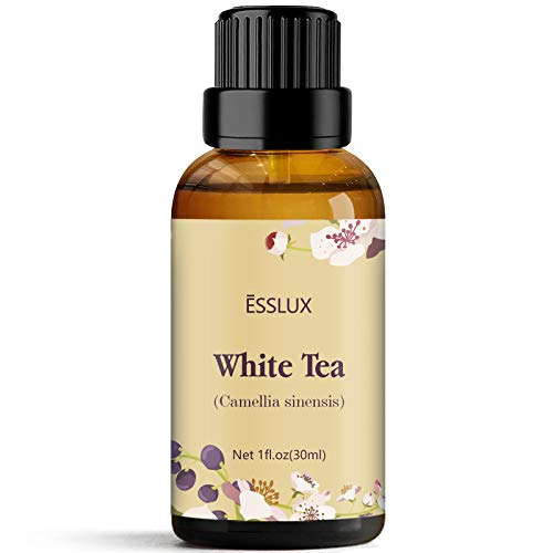 ESSLUX White Tea Essential Oil, Aromatherapy Essential Oils for Diffuser, Massage, Soap, Candle Making, Home Fragrance - 30ML