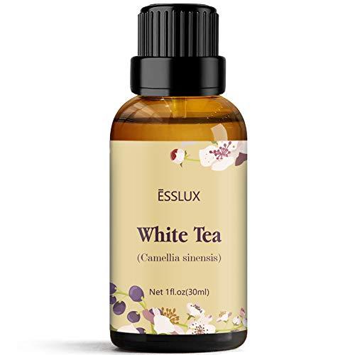 ESSLUX Weißer Tee ätherisches Öl für Diffusor, Massage, Seife, Kerze machen, Heimduft, 30 ml